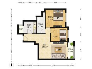 朗基龙堂  2室2厅1卫    168.0万