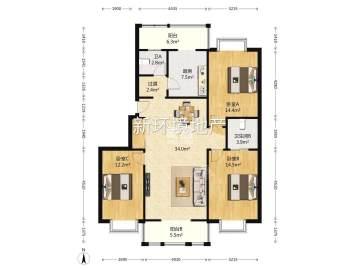 双维花溪湾(一、二期)  3室2厅2卫    218.0万