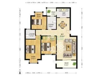 锦绣龙城  3室2厅1卫    165.0万