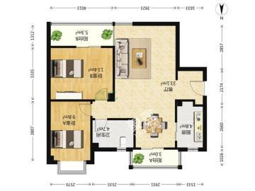 锦绣龙城  2室2厅1卫    165.0万
