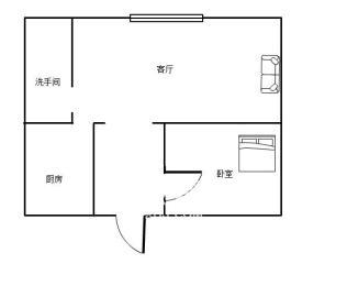 福鑫大厦  1室1厅1卫    39.0万