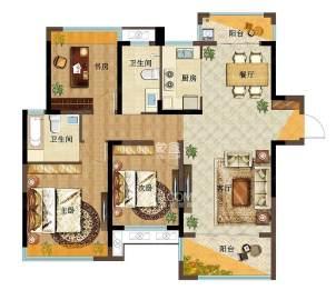 莱茵小镇(环宇莱茵小镇)  3室2厅1卫    54.8万