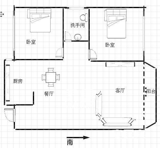 财富时代(高桥中江置业财富)  2室1厅1卫    72.8...