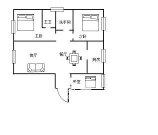 碧桂园  3室2厅1卫    75.0万