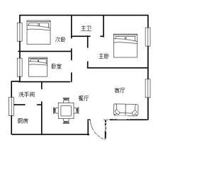 晨光小区 精装三房 128平 61万
