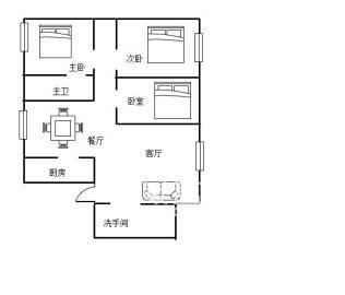 圣华名城 豪装三房 只卖75.8万