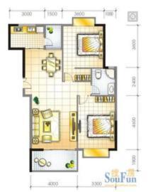 文博府(A区)  2室2厅1卫    2400.0元/月