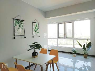 可短租,广电附近,财富名园,小清新风格,随时看房,拎包入住!