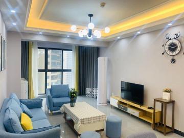 北辰三角洲溫馨精裝三居室,光線明亮全**家具 隨時入住