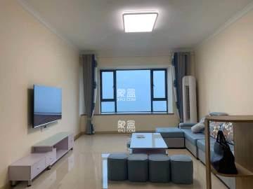 兰亭湾畔128平三室两厅两卫双阳台一线江景房首次出租