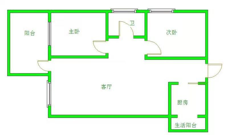 南湖国际4期  2室1厅1卫    235.0万