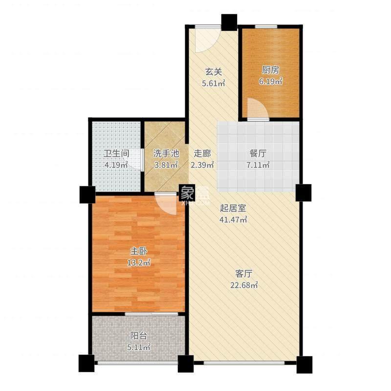 华联小区  1室1厅1卫    700.0元/月