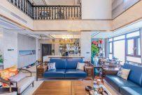 挑高客厅,新中式豪装复式,难觅二套 享墅式感受