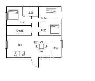 莱茵小镇  3室2厅2卫    80.0万