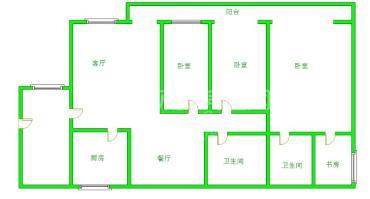南阳盛世  3室2厅2卫    170.0万