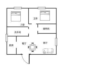 桂花路玫瑰名城 2楼精装修2室2厅63.8万