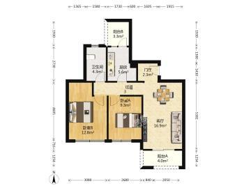 朗基龙堂  2室2厅1卫    2300.0元/月