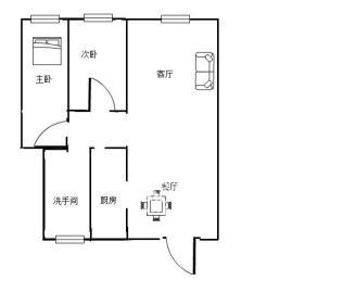 芦淞区荷叶名苑  2室2厅1卫    61.0万
