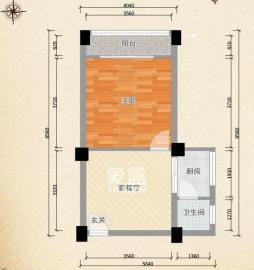 望月湖小区五片  1室1厅1卫    58.0万