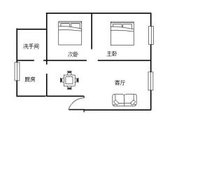 响石花园  2室2厅1卫    50.0万