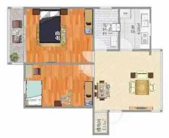 滨江财富中心  2室2厅1卫    42.8万