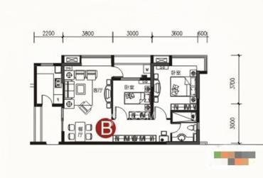 保利温泉新城  2室2厅1卫    95.0万