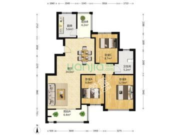 锦绣龙城  3室2厅1卫    198.0万