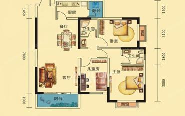 观府壹号(二组团)  3室2厅2卫    3900.0元/月