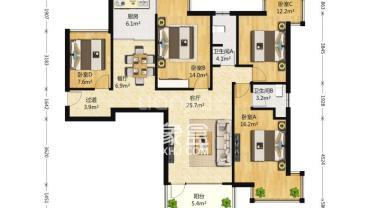 北辰三角洲  5室3厅4卫    15000.0元/月