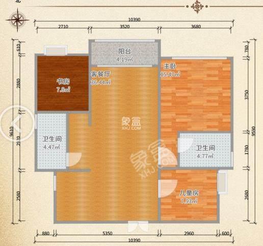 景秀江南世家  3室2厅2卫    67.8万