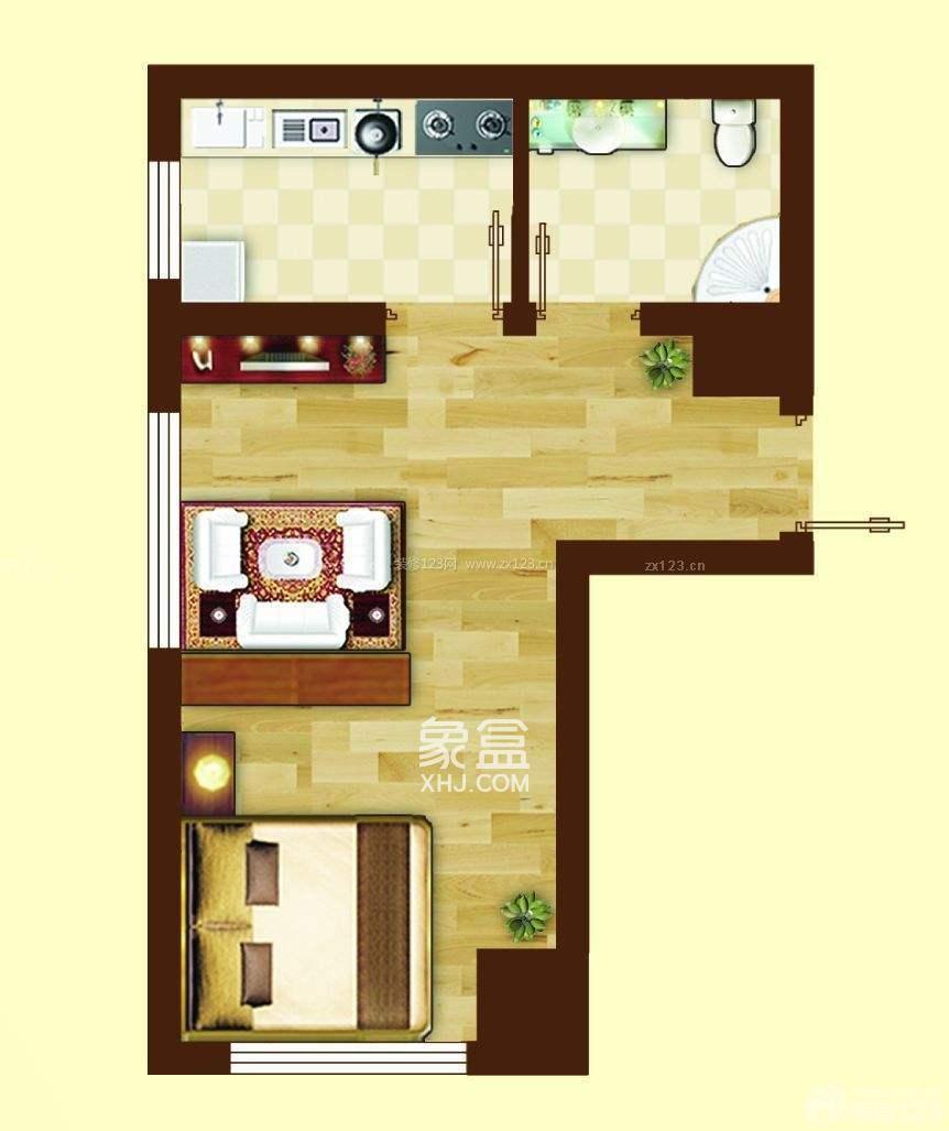 九华新城  2室1厅1卫    1500.0元/月
