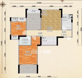 中信文化广场(中信新城二期)  3室2厅1卫    73.0万