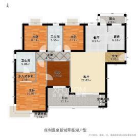 保利温泉新城  4室2厅2卫    163.0万