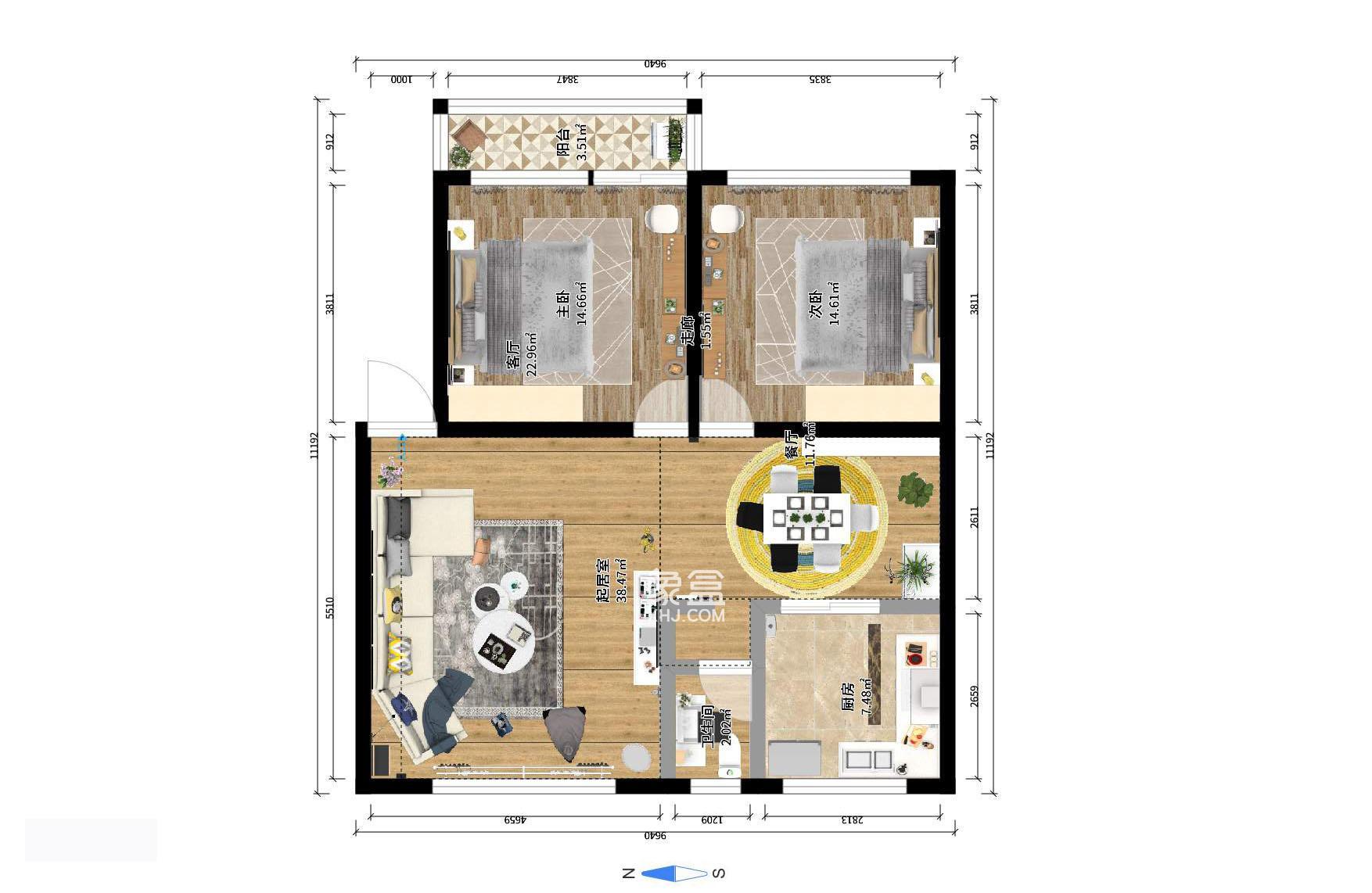 新星小區 自己居家兩房 樓層好 公攤小 適合不同層次人需要