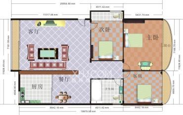 山水阳光城  3室2厅1卫    38.8万