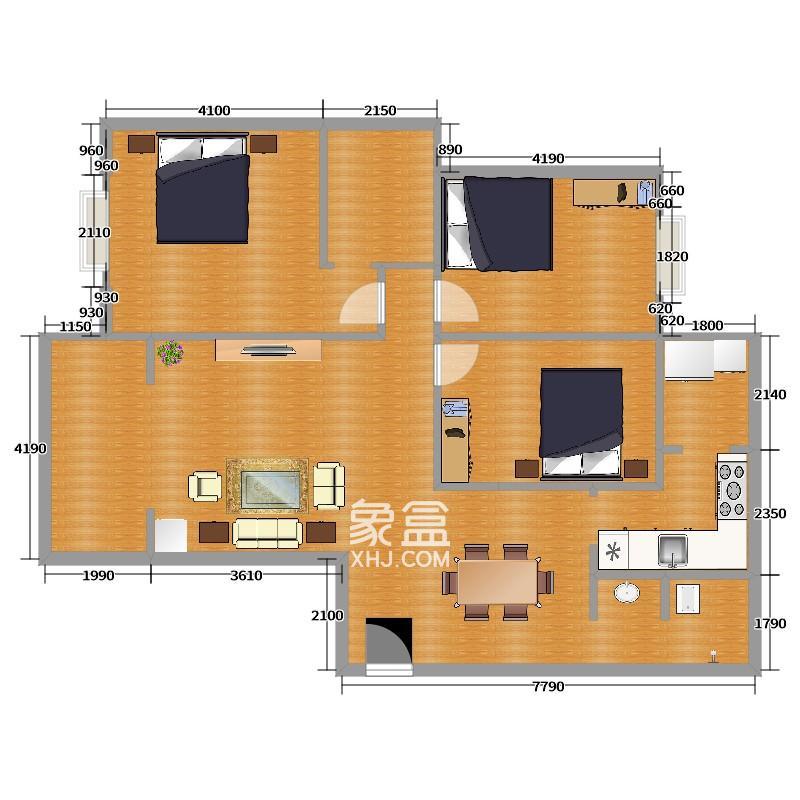 怡海星城  2室1厅1卫    1600.0元/月