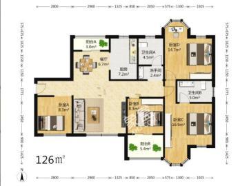 锦绣龙城  4室2厅2卫    235.0万