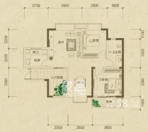 中房F聯邦精裝修三房,梅溪湖地鐵口附近,中間位置,安靜