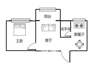 红旗广场大润发 可做两房电梯 62平首付十万
