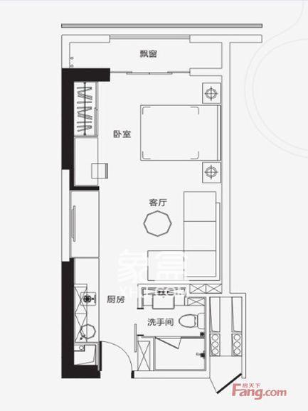 保利国际广场  1室1厅1卫    3200.0元/月