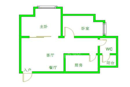 左右小区  2室2厅1卫    1800.0元/月