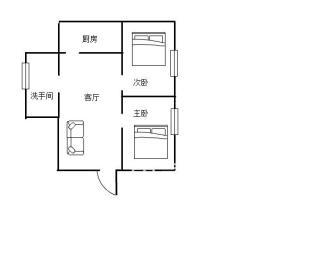 芦淞路散盘  2室1厅1卫    28.0万