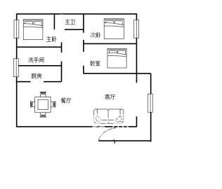 文化园三期  3室2厅1卫    100.0万