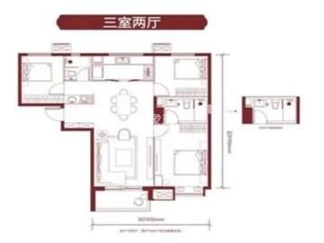 万科东方传奇  3室2厅2卫    300.0万