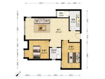 中信城佐岸  2室2厅1卫    130.0万