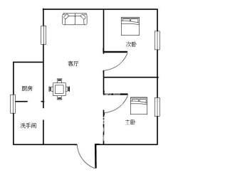 洪福花园  2室2厅1卫    30.0万