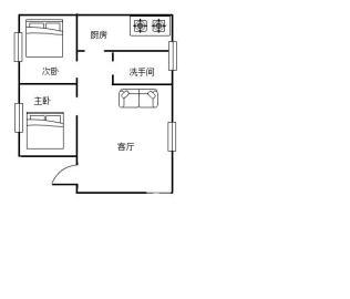 铁路生活区  2室1厅1卫    35.0万