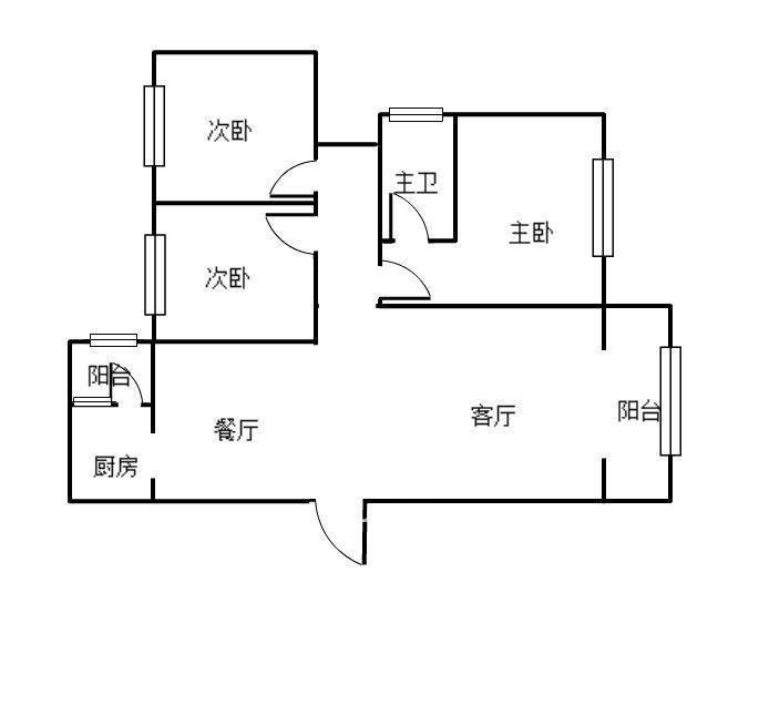 荷塘月色红旗南路46号  3室1厅1卫    70.0万