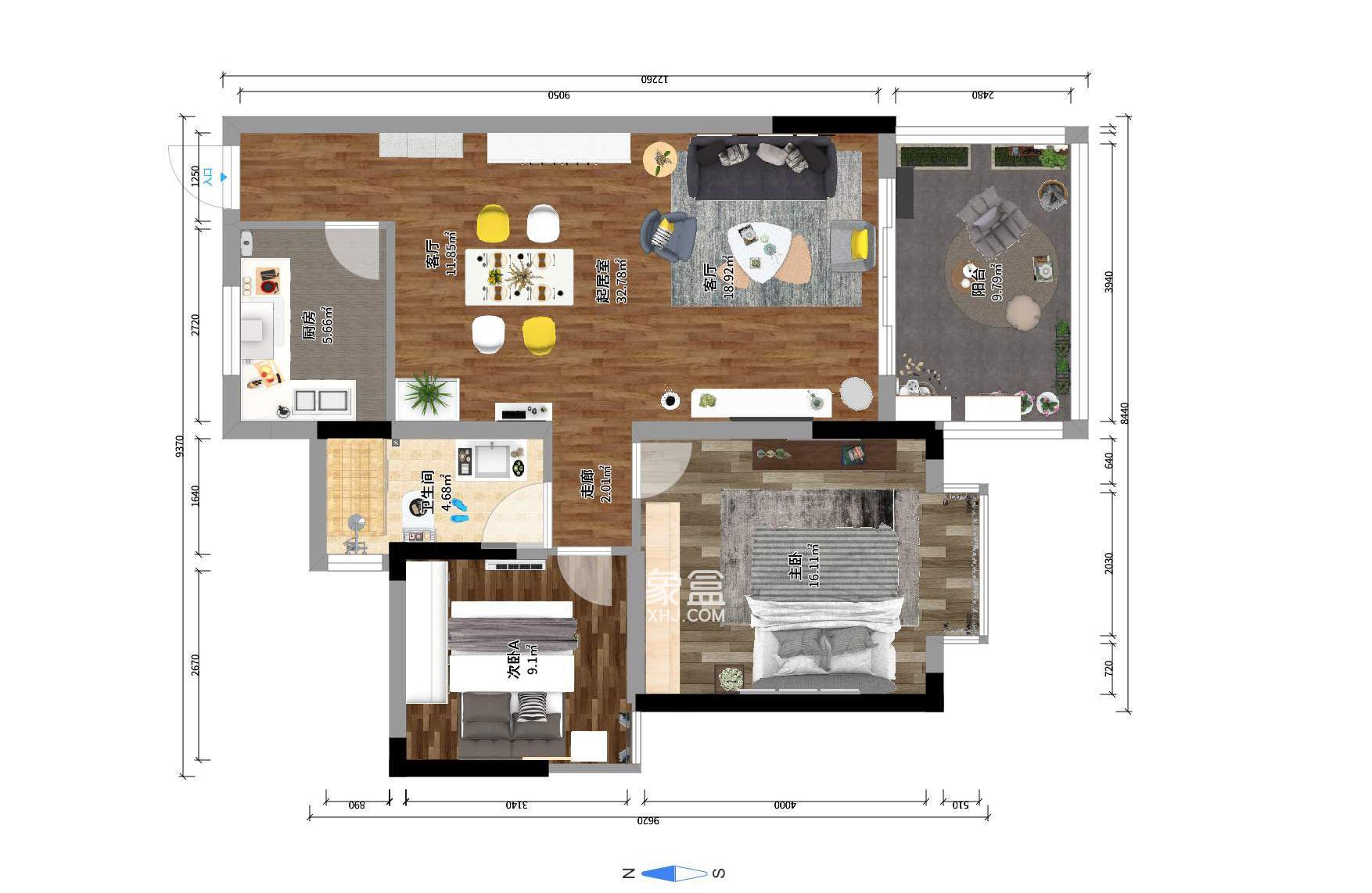 萊茵城  2室2廳1衛    92.0萬