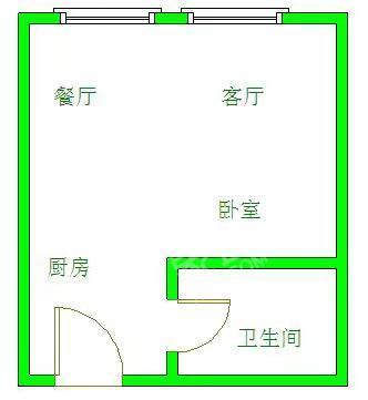 锦江花园  1室1厅2卫    1500.0元/月